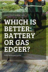 battery edger vs gas edger pin