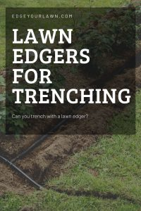 lawn edger trencher pin
