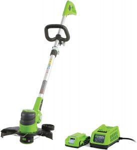 greenworks battery powered weed eater